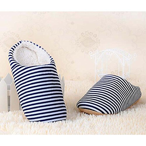 Slippers Ankle Navy House Women Winter Home Indoor Soft Men Warm Shoes UXwxRCXdq