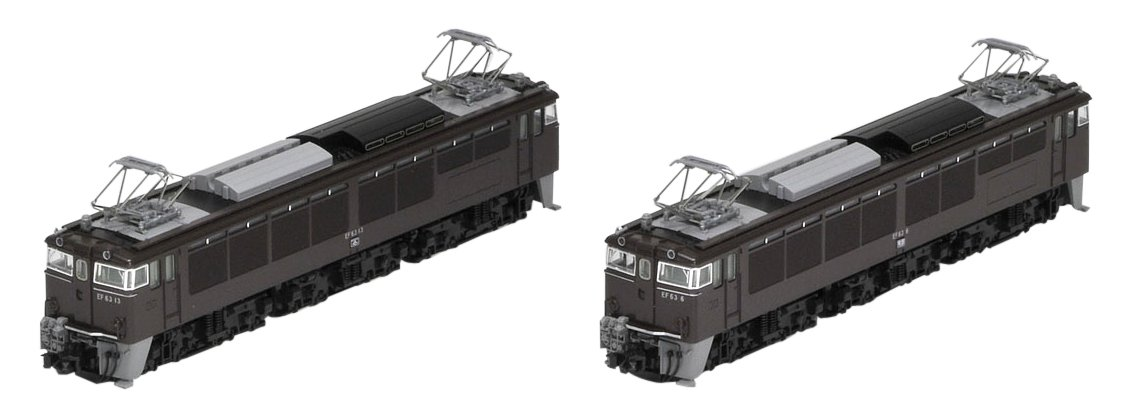 TOMIX Nゲージ EF63 1次形 茶色 セット 98005 鉄道模型 電気機関車 B00PPWWY48