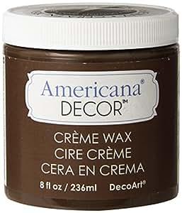 Deco Art Americana Decor Creme Wax, 8-Ounce, Deep Brown
