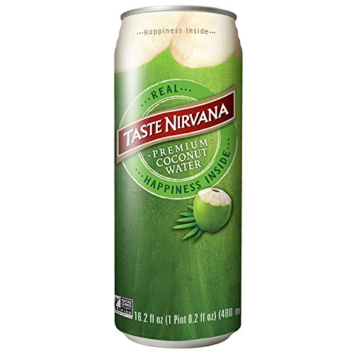 Taste Nirvana Real Coconut Water, 16.2 Ounce Cans (Pack of 12)