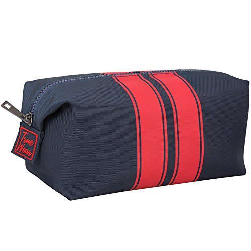 9257cc7c93 Toiletry Bag Shaving Dopp Kit for Men Navy Blue with Red stripes – Stylish  Mens Toiletry
