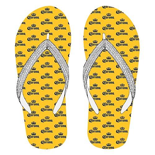 Corona Repeating Logos Men's Flip Flops Sandals X-Large Yellow