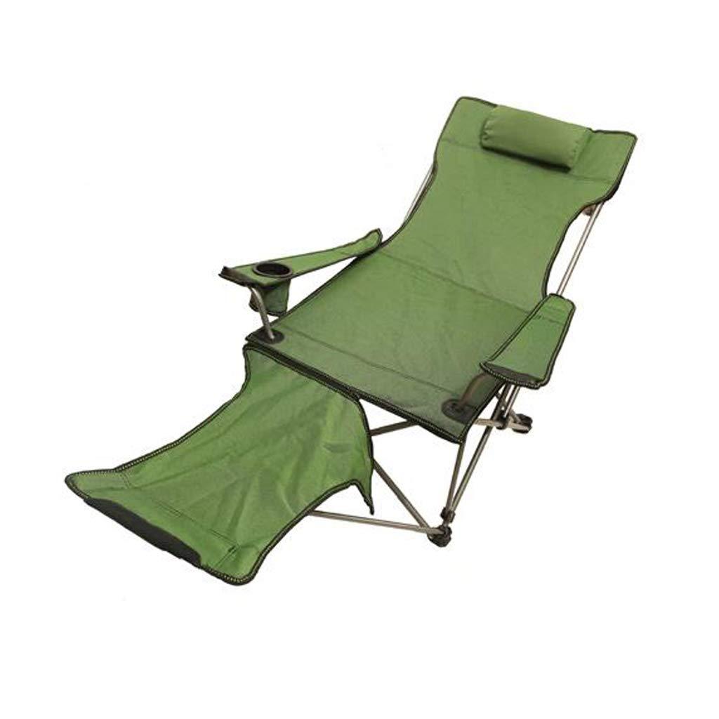 Outdoor-Klappstuhl Dual-Use Liege Liegeplatz Camping Camping Angeln Krankenhaus begleitenden Bett (Squat Fuß abnehmbar)