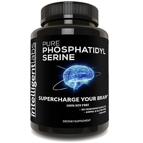 Fosfatidilserina 100 mg ☆ 100% sin soja – La mejor fosfatidilserina pura ☆