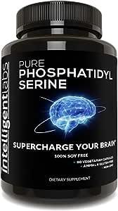 Phosphatidylserine 100mg, 100% Soy Free, Best Pure Phosphatidylserine, Intelligent Labs