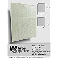Oreck Airinstinct 75, 100, 100, 150, 200 Air Filter Aftermarket Hepa Filter By White Square