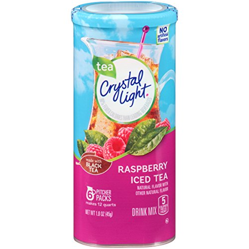 Crystal Light Raspberry Tea Drink Mix (72 Packets, 12 Canisters of 6) ()