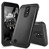 LG K20 Plus Case, LG K20 V Case, LG Harmony Case,TJS Dual Layer Hybrid Shock Absorbing Impact Resistant Rugged Case Cover Carbon Fiber Back with Hard TPU Inner Layer (Not Fit LG K10 2016)