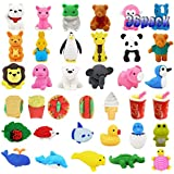 LanMa 36PC Animal Erasers for Kids Prizes Mini Pencil Puzzle Eraser Set for Game Party Favors Birthday Gift School Rewards