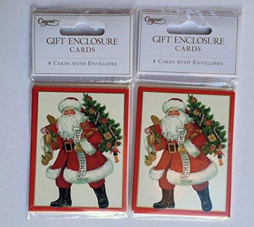 [해외]Caspari에서 크리스마스 선물 꼬리표는 크리스마스 선물을위한 꼬리표 그리고 봉투 세트를 포함한다 - Lynn Haney 산타 디자인 쇼 산타 선물 - 3.5 x 2.5에서/Christmas Gift Tags fro