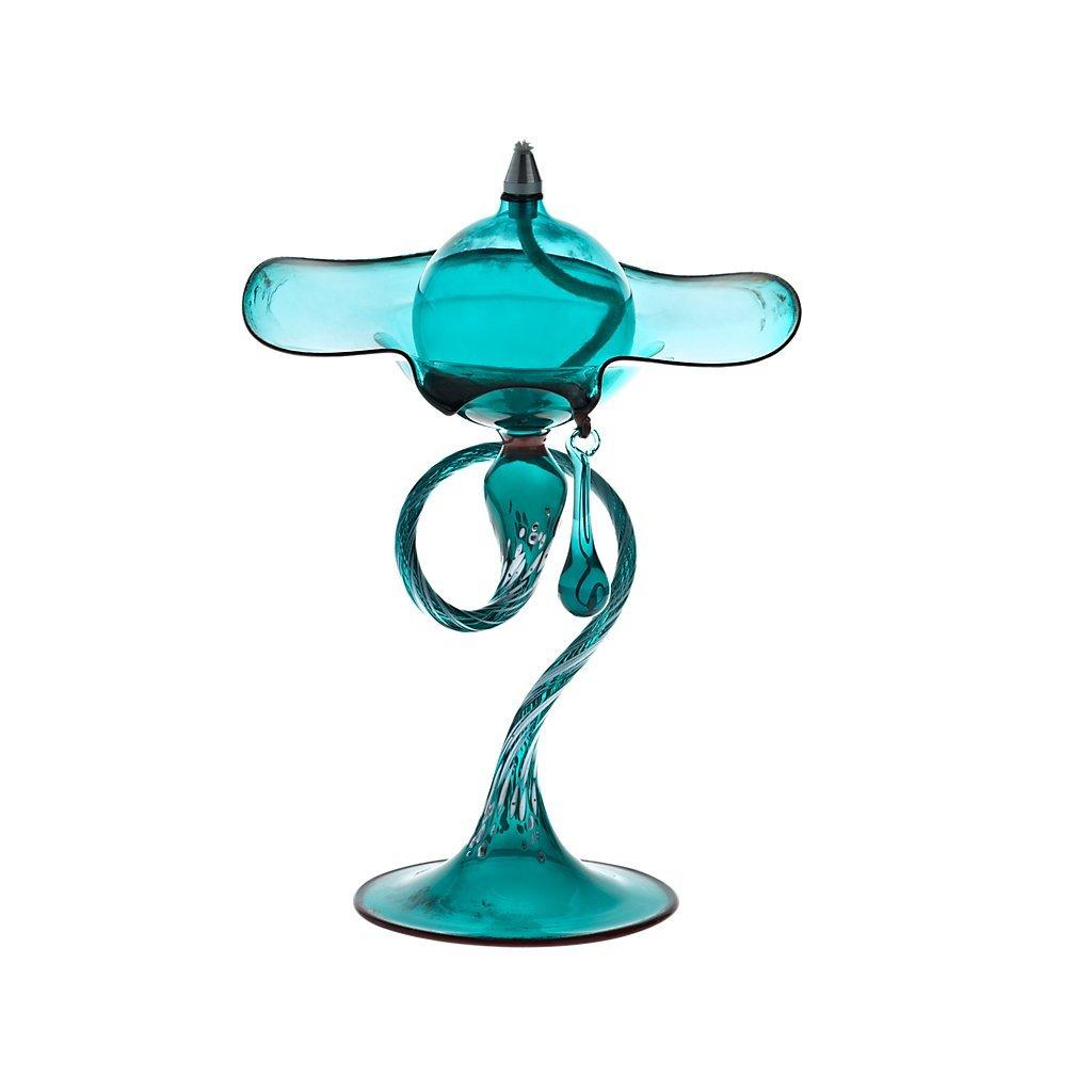 Lampe à huile avec larme en verre, Collection Bloom, 18 cm, pétrole, fait à la main, verre soufflé (ART GLASS powered by CRISTALICA) Collection Bloom
