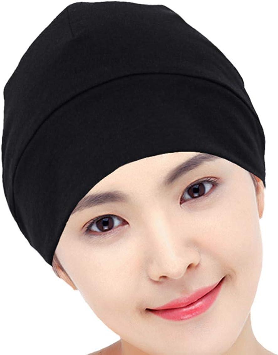 DABER VICH Slouchy Bonnet de Nuit en Satin doubl/é de Soie pour Femme Cheveux boucl/és naturels