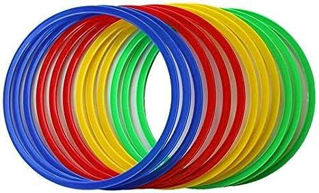 Rosso Boje Sport vx50 Set di 12 Anelli Flessibili Unisex Verde Unisex Blu ca 45 cm. 3 x Giallo