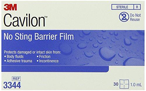 - Cavilon No Sting Barrier Film, Wipe, No Alcohol, Sterile, 3344 - Box of 30