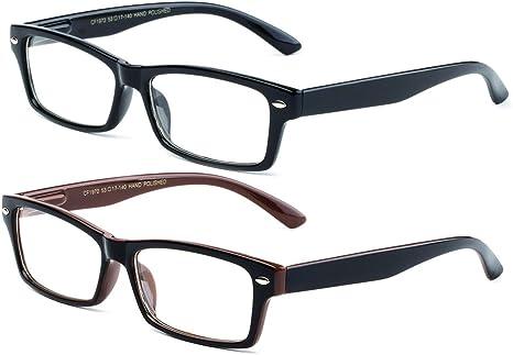 compañero promedio Delegación  Amazon.com: newbee – Simple Elegante cuadrados marcos de lentes  transparentes anteojos de ojo de moda para hombres y mujeres de Cosplay  Accesorios de moda: Clothing