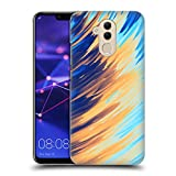 Official Andi Greyscale Two Sides of One Extreme Abstract Marbling Hard Back Case Compatible for Huawei Mate 20 Lite