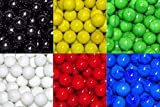 """Unique & Custom {1"""" Inch} Set of Approx 60 Big Size """"Round"""" Opaque Marbles Made of Glass for Filling Vases, Games & Decor w/ 10 of Each Color Team Play Variety Design [Assorted Colors]"""