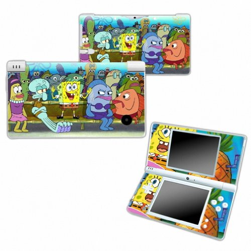 SPONGEBOB Design Nintendo DSI NDSI DSi NDSi Vinyl Skin Decal Cover Sticker Protector (Matte Finish)+ Free Screen Protector