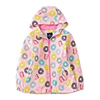 Hiheart Girls Hooded Fleece Lined Active Jacket Outdoor Waterproof Coat Pink (Light Pink, 5/6)