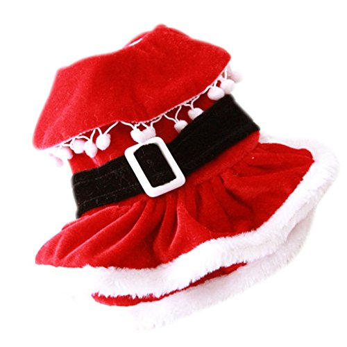 Dog New Years Costume (Pet Shirt,Haoricu Spring Winter Christmas New Year Decoration Santa Costume For Small Dog Puppy Pets Clothing Dog Warm Outwear (XS, Red))