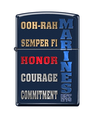 Navy Matte Lighter - Zippo USMC Navy Matte Pocket Lighter