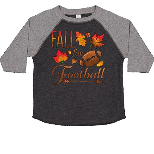 - inktastic - Fall for Football Toddler T-Shirt 3T Smoke and Granite 2c161