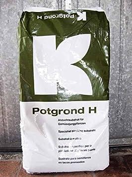 Turba, terriccio para plantas de ensalada (Potgrond H-Klasmann) (29 kg-) 70 L: Amazon.es: Jardín