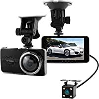 LIKEA 4.0 Dash Cam,FHD 1080P,170° Front+120 ° Rear Wide Angle DVR Dashboard Camera Recorder with G-Sensor,WDR,Loop Recording