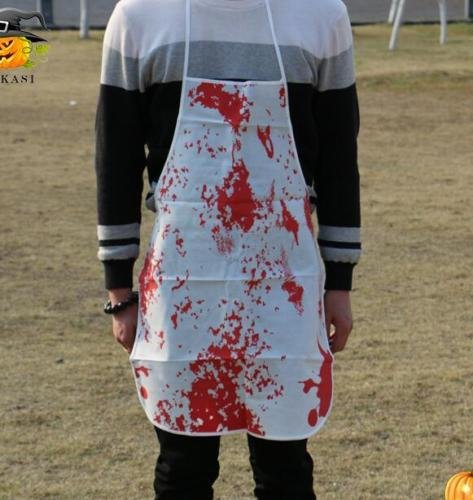 MAZIMARK--Halloween Bloodstained Apron Mad Scientist Costume Fancy Dress
