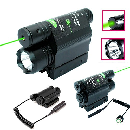 1 Laser Pen (NIUDB 2-in-1 Combo CREE 600lm 3mode Flashlight + Green Laser Sight Tactical For)