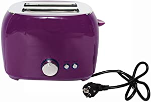 NAFE Electric Toaster, Automatic Bread Baking Machine Toast Sandwich Grill Oven Maker 2 Slices Household for Breakfast EU-Purple