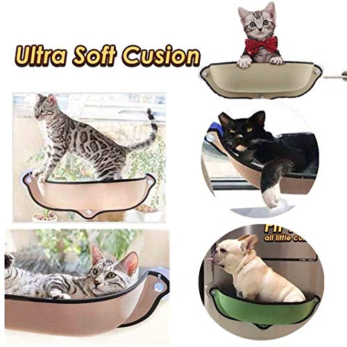 (Cat Window Perch Bed | Fashion Kitty Window Bed Hammock | Heavy Duty Suction Cups Cat Bed | Elegant Window Sill Cat Bed | Cute Safety Cat Climber Shelve |)