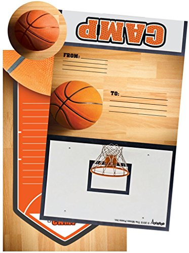 iscream Basketball Camp Foldover Cards with Flip Stickers