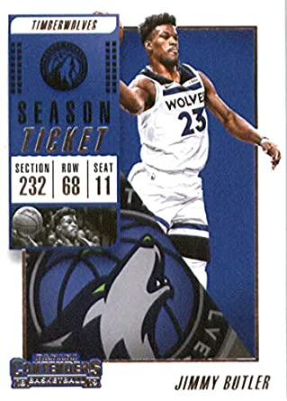 2018-19 NBA Contenders Season Ticket  41 Jimmy Butler Minnesota Timberwolves  Official Basketball Card ea9ae7b7e