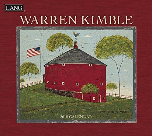 """LANG - 2018 Wall Calendar - """"Warren Kimble"""" - Artwork By Warren Kimble - 12 Month - Open, 13 3/8"""" X 24"""""""