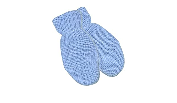 BabyPrem Baby Winter Clothing One Pair of Mittens Gloves in Blue Pink White 0-12