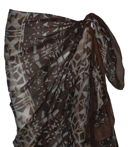 Brown Multi Pattern Cotton Sarong