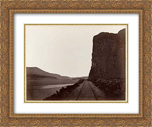 Carleton E. Watkins - 24x20 Gold Ornate Frame and Double Matted Museum Art Print - Cape Horn Near -