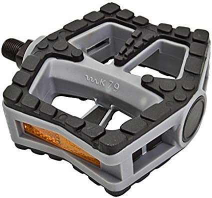 """SUNLITE NON-SLIP RESIN GRAY//BLACK 1//2/"""" BICYCLE PEDALS"""