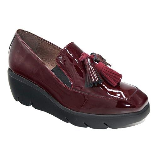 Wonders C5304 Mocasín borlas Extrtalight Charol Granate: Amazon.es: Zapatos y complementos