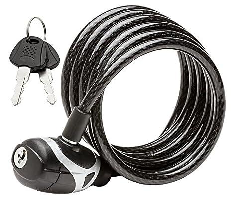 Schwinn SW77861-3 Coil Key Lock, 6-Feet x 8mm - Schwinn Bike Accessories