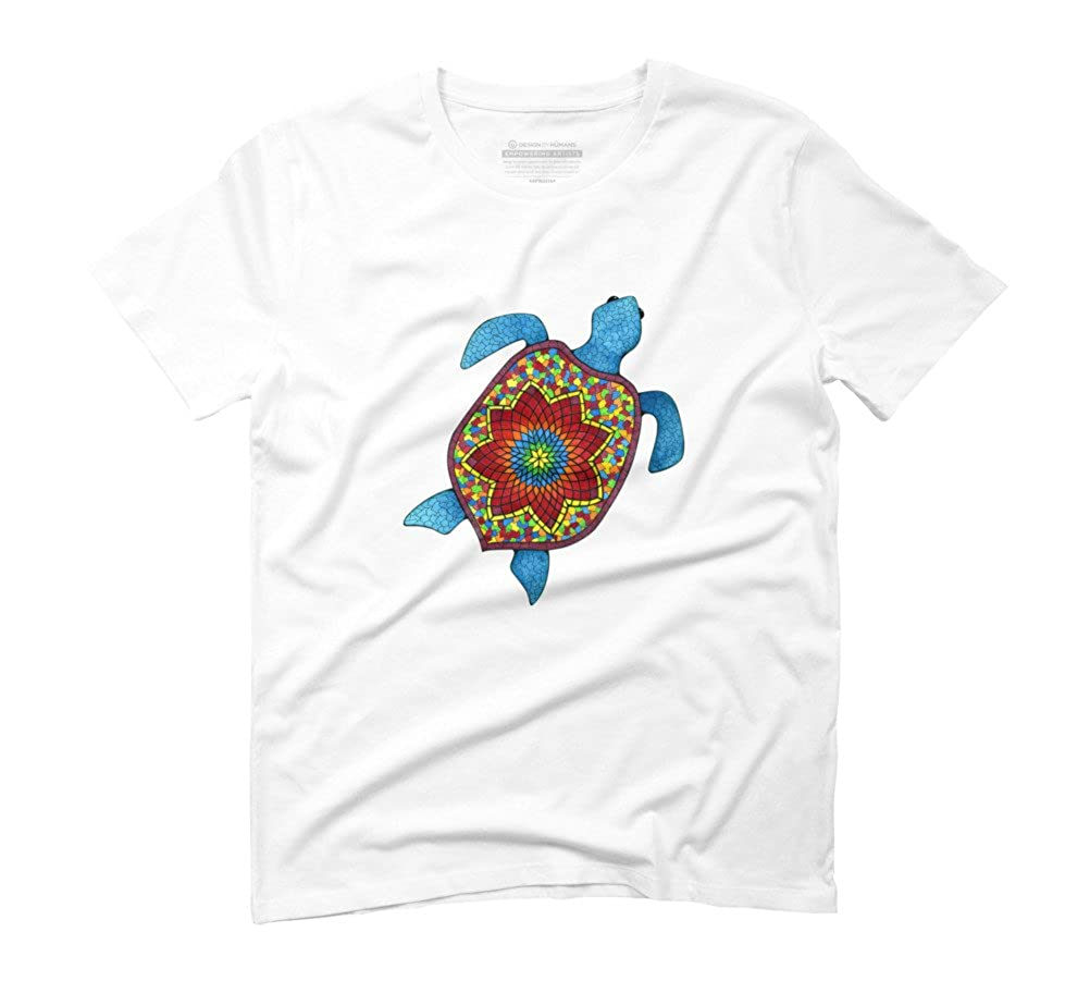 f918f0e2f Turtley Awesome Mosaic Watercolor Turtle Men's Graphic T-Shirt - Design By  Humans: Amazon.co.uk: Clothing