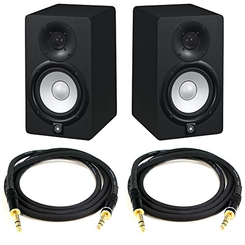 Yamaha HS5 Powered Studio Monitor Bundle with Two Monitors and Cables