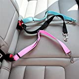 Dog Pets Car Safety Seat Belt Harness Restraint Lead Adjustable Travel Clip ?-
