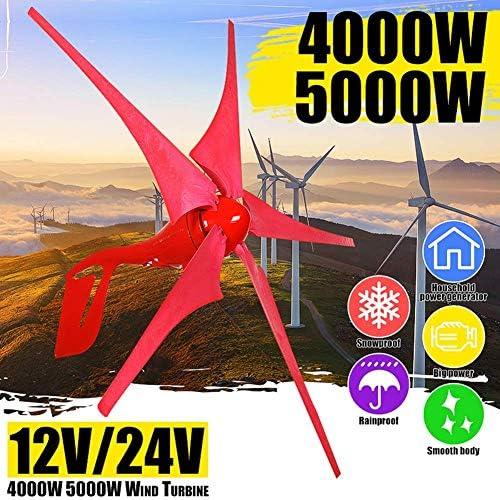 CTO 400W / 500W 12V / 24V Wind-Energie-Turbinen-Generator 5 Wind Blade-Windmühle Windgenerator Controller Set Boatfor Solar-Straßenbeleuchtung Hot Wind Turbines Generator,4000w,24V