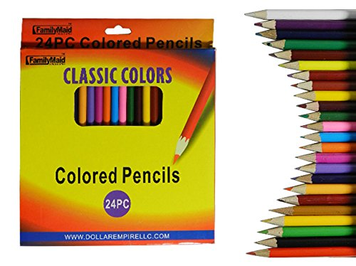 COLOR PENCIL 24PC WINDOW BOX, Case of 144 by DollarItemDirect