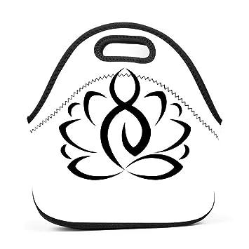 Amazon Lotus Flower Buddhist Symbol Bento Boxes Washable Lunch