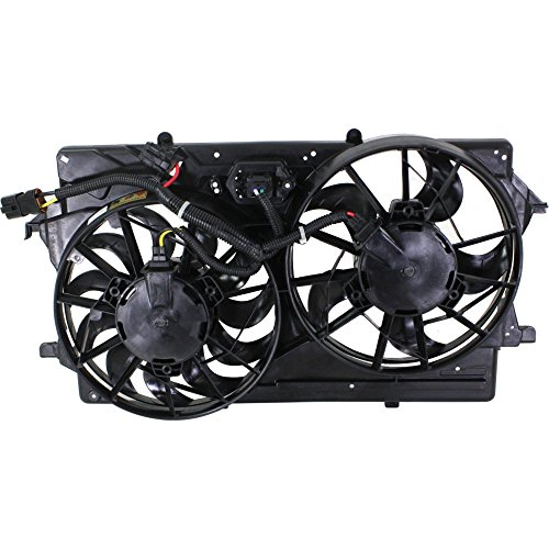 Radiator Fan Assembly for Ford Focus 00-02 w/A/C Double Plug Hole DOHC/SOHC 2.0L Eng. (Focus Ford Cooling 2003 Fan)