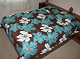 Hawaiian Quilt 100% Polyester Micro Fabric 4mm Thin Comforter Queen /Full Size (Brown)