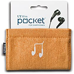 UT Wire UTW-PK01-NG Pocket Earbud Earphone Case Pouch Bag Organizer, Orange